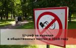 Курение в общественных местах статья штраф 2018