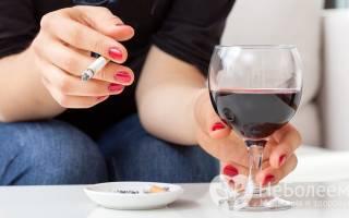 Вред алкоголя и курения на организм