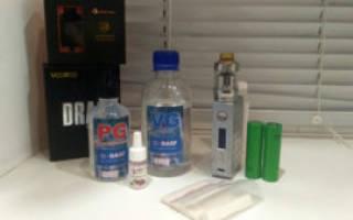 Жидкость для вейпа содержание никотина