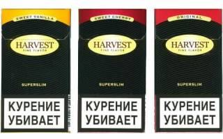 Сигареты харвест сколько в них никотина