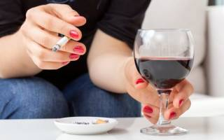 Что вреднее алкоголь или курение