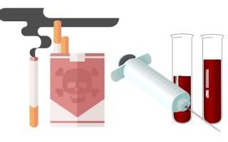 Можно ли курить перед биохимией крови