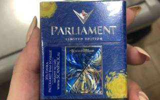 Parliament silver blue содержание