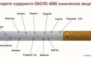 Сколько веществ в сигарете
