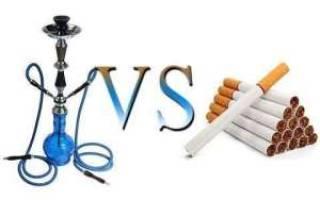 Сравнение кальяна и сигарет