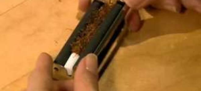 Как крутить сигареты с помощью машинки