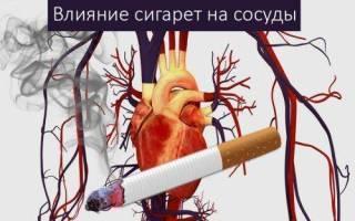 Вред курения для сосудов