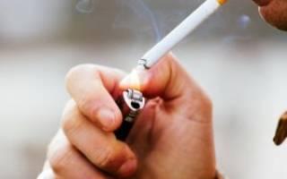 Сужение сосудов при курении