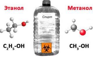 Чем отличается метиловый спирт от этилового