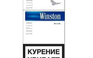 Винстон черный с синей полосой