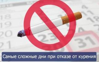Когда бросаешь курить сколько дней тяжело