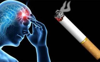 Как курение влияет на психику
