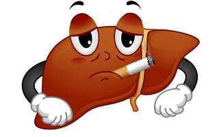 Как влияет никотин на печень