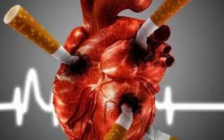 Тахикардия при отказе от курения